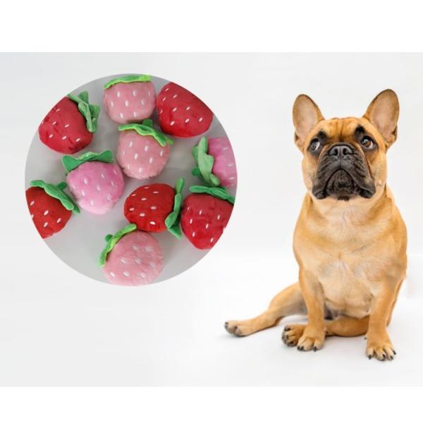 犬 おもちゃ DOG TOYS ぬいぐるみ 噛む 音の出るおもちゃ 音が鳴る ストレス解消 運動不足解消 可愛い犬用品 苺 猫 ペット用品 ゆうパケット送料無料 missbeki 08