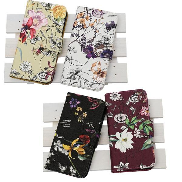 アイフォンX スマホケース花柄 iPhoneX ケース 手帳型 スマホカバー カードホルダー スフラワー 送料無料|missbeki|05