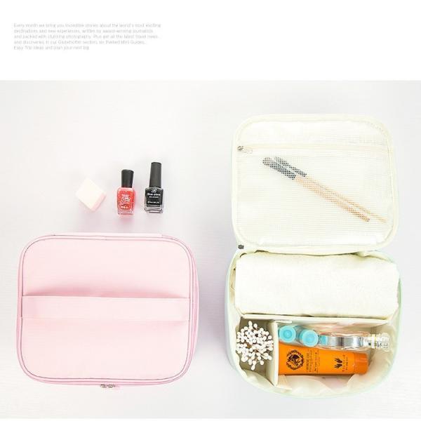 化粧ポーチ 機能的 使いやすい 大きめ 大容量収納 トラベル コスメポーチ バッグインバッグ 防水素材 おしゃれ 小物入れ ゆうパケット便送料無料|missbeki|06