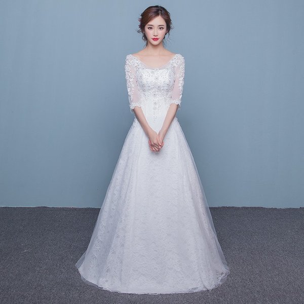 4b505a7453bf6 ウエディングドレス Aラインドレス 安い 結婚式 ロングドレス 花嫁 お呼ばれ服 パーティードレス 二次会 ...
