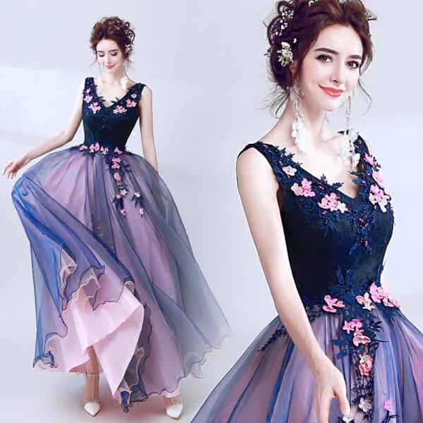 1eb8cecd410bf ウエディングドレス カラードレス コンサート 安い 結婚式 ロングドレス ...