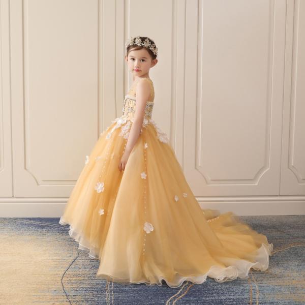 b07f8db18e7c3 子供ドレス 発表会 ピアノ 豪華なドレス 結婚式 ロングドレス 女の子 演奏会 子供 ...