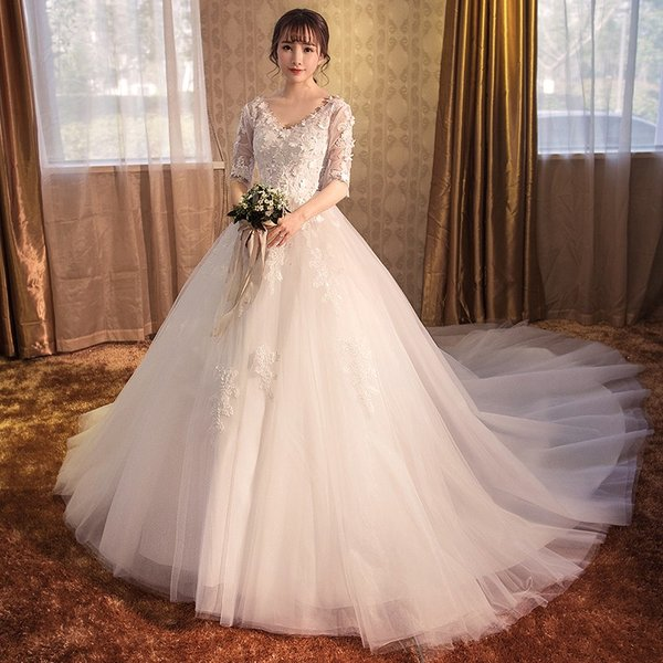 dfc5804e8c814 ロングドレス 長袖 結婚式 マタニティドレス 花嫁 ウエディングドレス 安い ウェディングドレス 二次会 エンパイア お呼ばれ ...