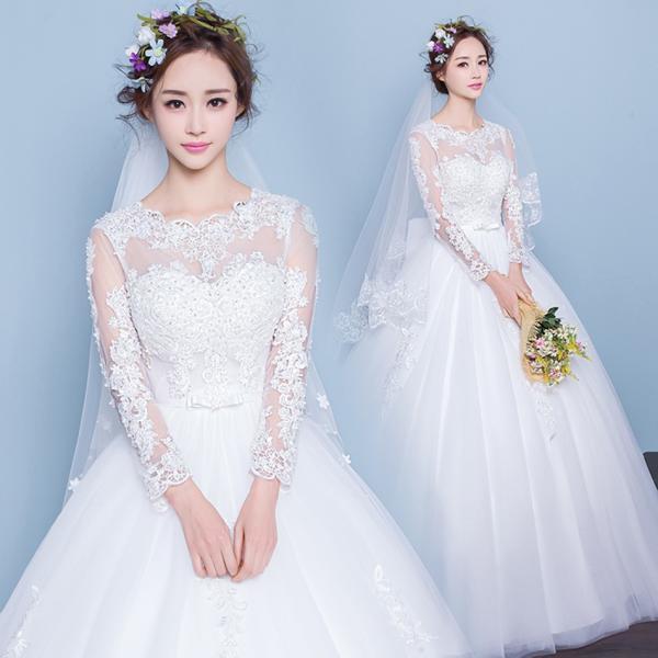 2ff24ae9dad52 マタニティドレス 安い 長袖 ウエディングドレス 結婚式 ウェディングドレス エンパイア お呼ばれ 二次会 ロングドレス ブライダル ...