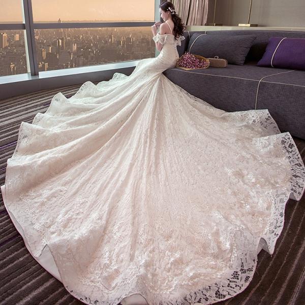 a4d60c193b625 マーメイドドレス 結婚式 ウェディングドレス 花嫁 ウエディングドレス ロングドレス 二次会 ブライダル 安い 披露宴 ロングトレーン