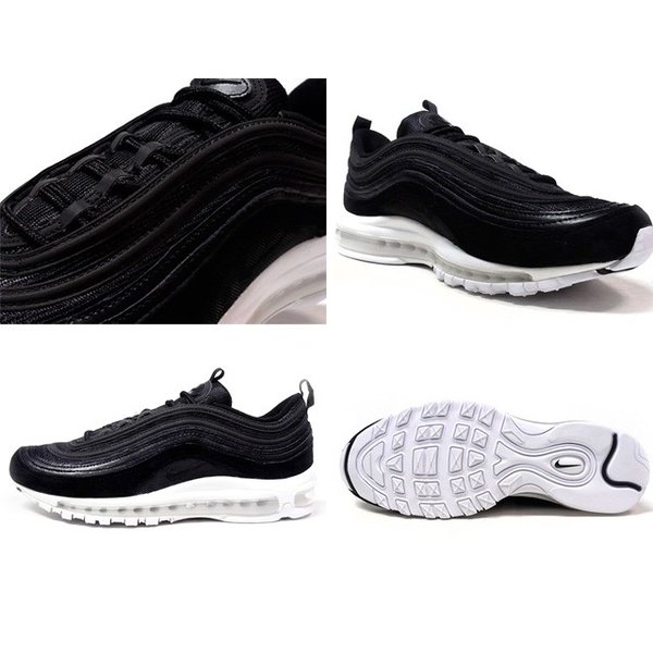 Nike air max 97 black patent grey reftelect trainers size 9