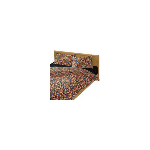 オーダーサイズ カラフルブロック ベビーお昼寝布団 掛けカバー マジックテープ開閉口 長さ125〜150cm 幅70〜75cm 12サイズからお選べます 日本製