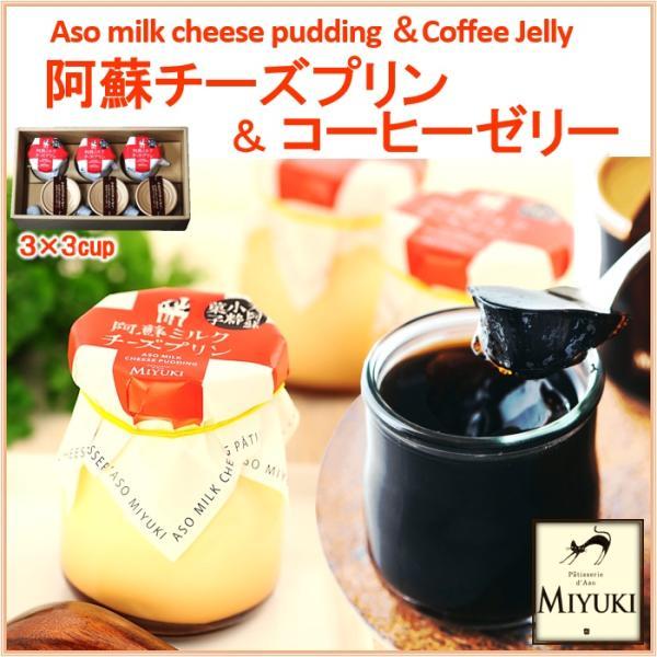 熊本 阿蘇 ギフト 阿蘇ミルクチーズプリン & コーヒーゼリーセット 3×3個入 お菓子の味幸 セット