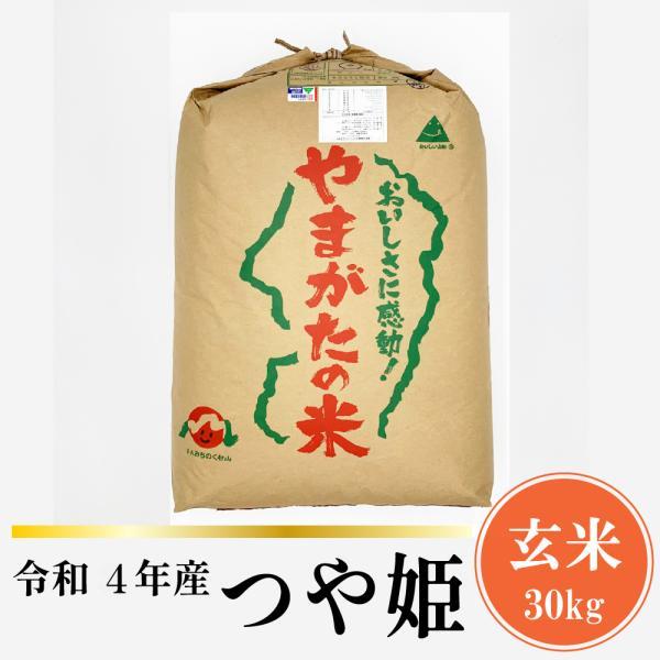 米 つや姫 30kg 山形県産 玄米 令和2年産 送料無料 つや姫玄米