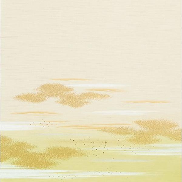 日新821(2枚柄) 織物(糸入り)ふすま紙,襖紙 白・ホワイト系地 緑・グリーン系柄 霞・雲柄 203cm×100cm 2枚1組セット|mitokamiten|02