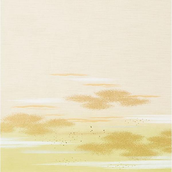 日新821(2枚柄) 織物(糸入り)ふすま紙,襖紙 白・ホワイト系地 緑・グリーン系柄 霞・雲柄 203cm×100cm 2枚1組セット|mitokamiten|03