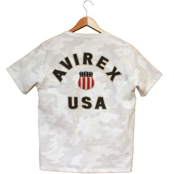 半袖tシャツ メンズ ブランド AVIREX アヴィレックス SIGNATURE VARSITY フットボール Tシャツ 刺繍 ワッペン ミリタリー アヴィレックス 迷彩 カモフラージュ|mitoman|02