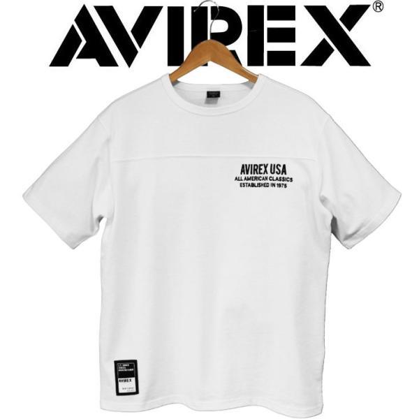 ビッグシルエット Tシャツ 半袖 avirex アビレックス BIG LOGO LOOSE FIT ビッグサイズ 大きいサイズ メンズ ビッグロゴ ミリタリー ストリート アヴィレックス|mitoman