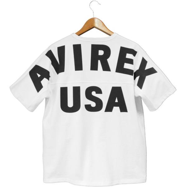 ビッグシルエット Tシャツ 半袖 avirex アビレックス BIG LOGO LOOSE FIT ビッグサイズ 大きいサイズ メンズ ビッグロゴ ミリタリー ストリート アヴィレックス|mitoman|02