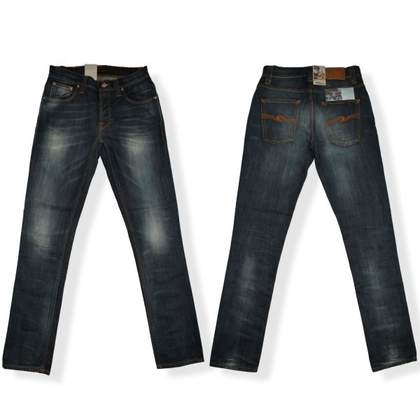 Nudie Jeans ヌーディージーンズ GRIM TIM グリムティム 967 ORG.WHITE KNEE ジーンズ デニム ボトムス メンズ スキニー mitoman 02