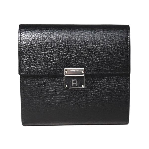 エルメス財布クリック12ブラックシェーブルHERMES