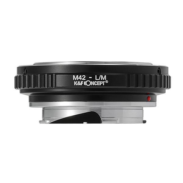 K&F CONCEPT KF-42M2  レンズマウントアダプター(レンズ側:M42マウント→カメラ側:ライカMマウント)