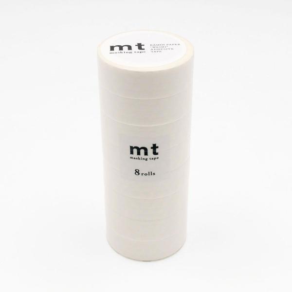 mt マスキングテープ 8P ドット・ホワイト MT08D367 同梱不可