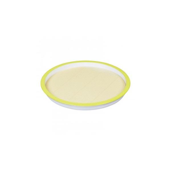 パール金属 彩創 麺プレート 丸 すのこ付グリーン HB-647 同梱不可