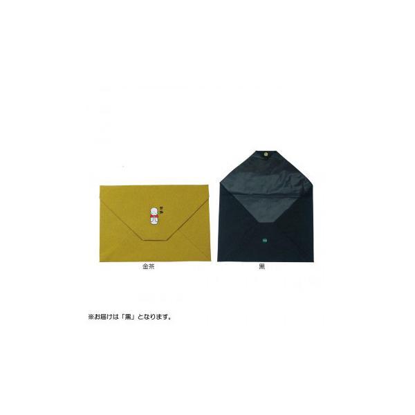 日本製 ポリエステルちりめん 箱入 袈裟入れ 感謝地蔵 黒7029-2231 同梱不可