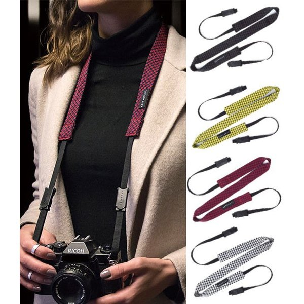 クランプラー CHST-001 チェックストラップ カメラストラップ ブラック/アントラシートの画像