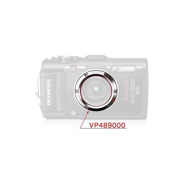 OLYMPUS VP489000 レンズリングフロントシルバー TG-3レッド用飾りリング 銀色