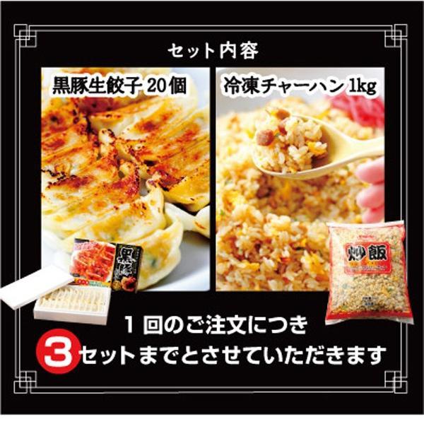 <TVで話題>【板橋】冷凍チャーハン1kg×黒豚生餃子セット|mitsuboshi|02