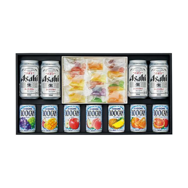 三越 お中元 御中元 ギフト 飲料 ビール お酒 B001963 〈アサヒ〉スーパードライ・〈カゴメ〉ジュース・〈彩果の宝石〉フルーツゼリー詰合せ