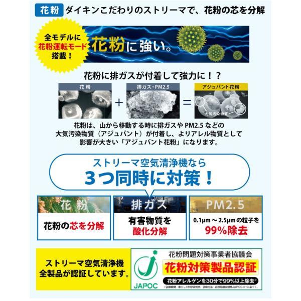 5年間保証付き ダイキン ストリーマ空気清浄機 ホワイト MC55U-W 花粉 コンパクト 小型 ペット ホコリ ニオイ PM2.5