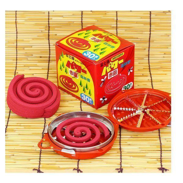 富士錦 携帯防虫器専用 パワー森林香 (赤函) 30巻入 & 携帯防虫器 セット mitsuyoshi