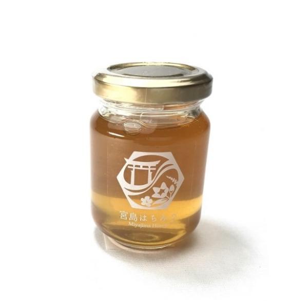 送料無料  広島県産宮島はちみつ(夏)120g 非加熱 国産 無添加 蜂蜜 ハチミツ ミツバチ みつばち 純粋 風邪 喉 のど かぜ