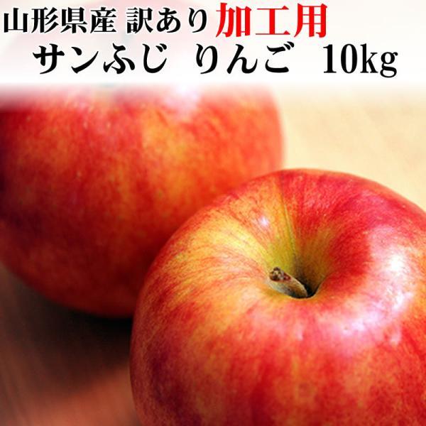 サンふじ りんご 加工用 訳あり 山形県産 10kg ポイント10倍 送料無料 [加工用りんご10キロ]|miuranouen