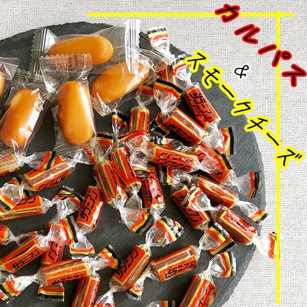 新商品 おつまみ カルパス スモークチーズ アソートパック ポイント消化 山形 メール便 100g×1袋  [カルパス&スモークチーズ1袋]
