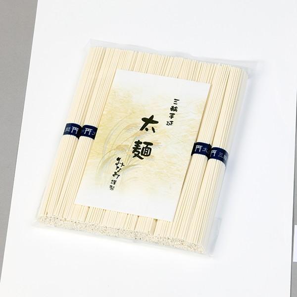 ひやむぎ 太麺 50g×10束 冷や麦 三輪素麺みなみ ふとめん お試し 家庭用 袋入|miwaminami-store