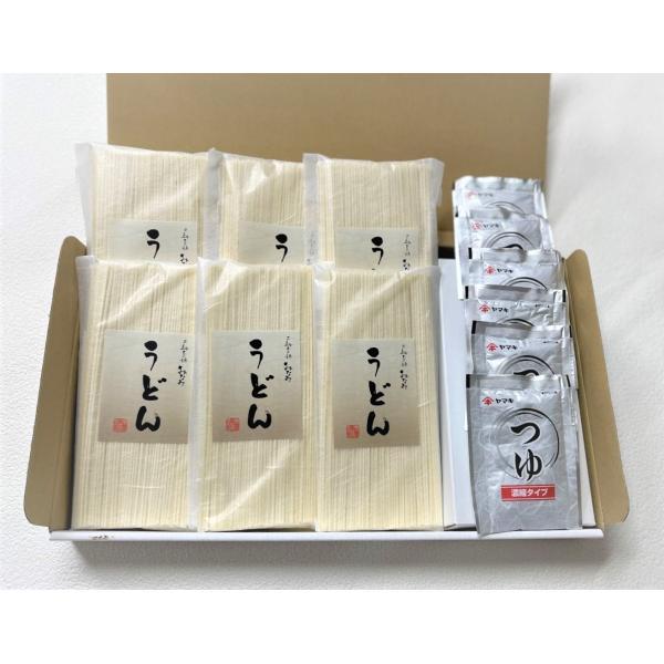 うどん 手延うどん 180g×6袋・めんつゆ 6袋セット 三輪素麺みなみ 段ボール箱|miwaminami-store
