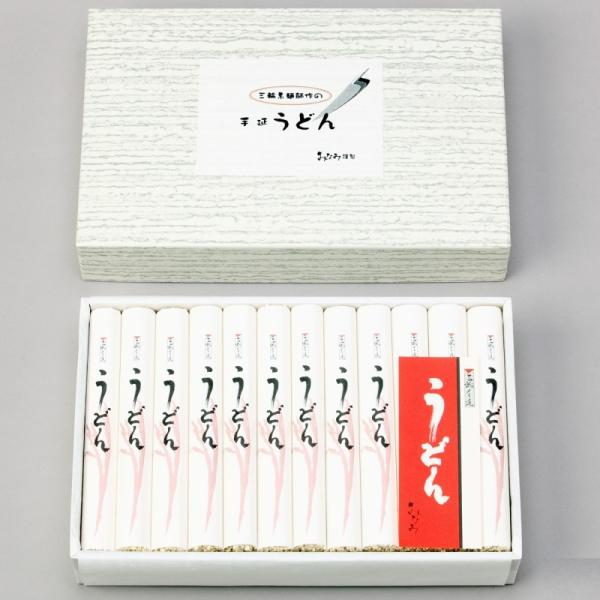 うどん 手延うどん 100g×24本 三輪素麺みなみ 乾麺 饂飩 お徳用  化粧箱 送料無料|miwaminami-store