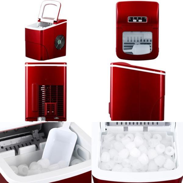 405 新型高速自動製氷機 氷ドンドン コンパクト レッド 405-imcn02 家庭用 小型 除菌 洗浄剤 氷キレイ おまけ付き|mix-max|12