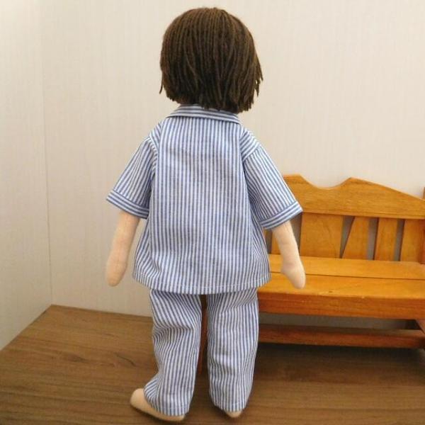 人形用 パジャマ 半袖 ストライプ 人形用パジャマ|mixjam-store|11