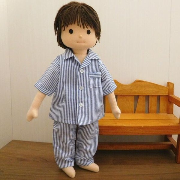 人形用 パジャマ 半袖 ストライプ 人形用パジャマ|mixjam-store|09