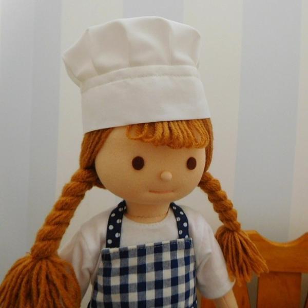 人形用コック帽 コック帽 ドール用コック帽 人形用 ドール用 コック クリックポスト可|mixjam-store|05