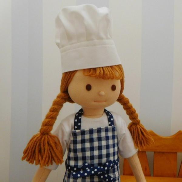 人形用コック帽 コック帽 ドール用コック帽 人形用 ドール用 コック クリックポスト可|mixjam-store|06