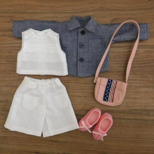 洋服セット ダンガリーシャツとフレアパンツのセット 着せ替え人形 28cmサイズ|mixjam-store