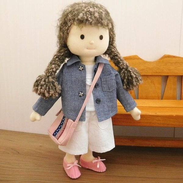 洋服セット ダンガリーシャツとフレアパンツのセット 着せ替え人形 28cmサイズ|mixjam-store|11