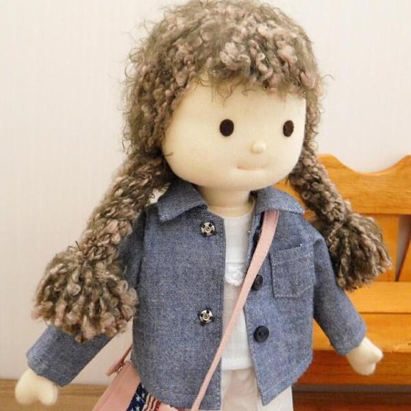 洋服セット ダンガリーシャツとフレアパンツのセット 着せ替え人形 28cmサイズ|mixjam-store|12