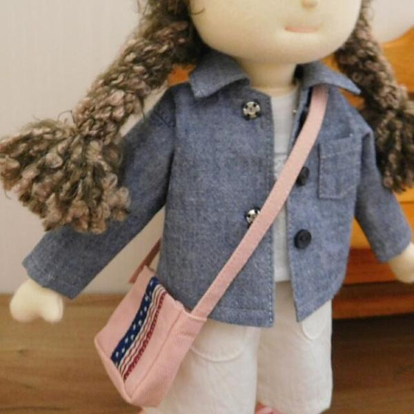 洋服セット ダンガリーシャツとフレアパンツのセット 着せ替え人形 28cmサイズ|mixjam-store|13