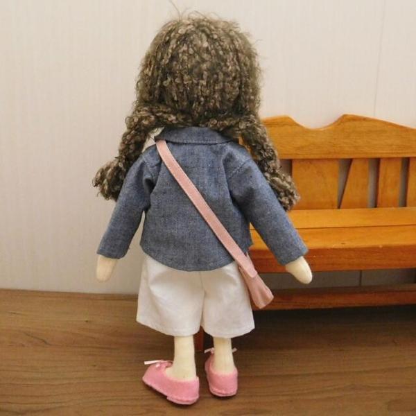 洋服セット ダンガリーシャツとフレアパンツのセット 着せ替え人形 28cmサイズ|mixjam-store|14