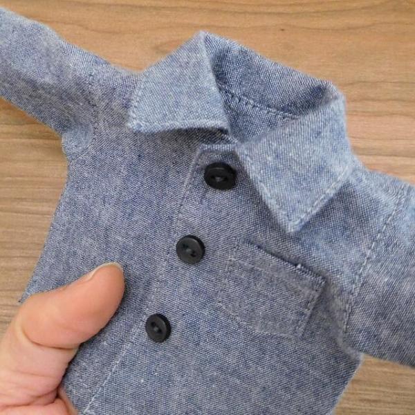 洋服セット ダンガリーシャツとフレアパンツのセット 着せ替え人形 28cmサイズ|mixjam-store|06