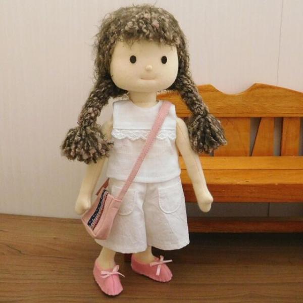 洋服セット ダンガリーシャツとフレアパンツのセット 着せ替え人形 28cmサイズ|mixjam-store|09