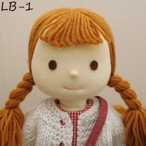 手作り 布製 着せかえ 人形 ギンガムワンピース- 半袖カーディガン 女の子 着せ替え セット 34cmサイズ|mixjam-store|11