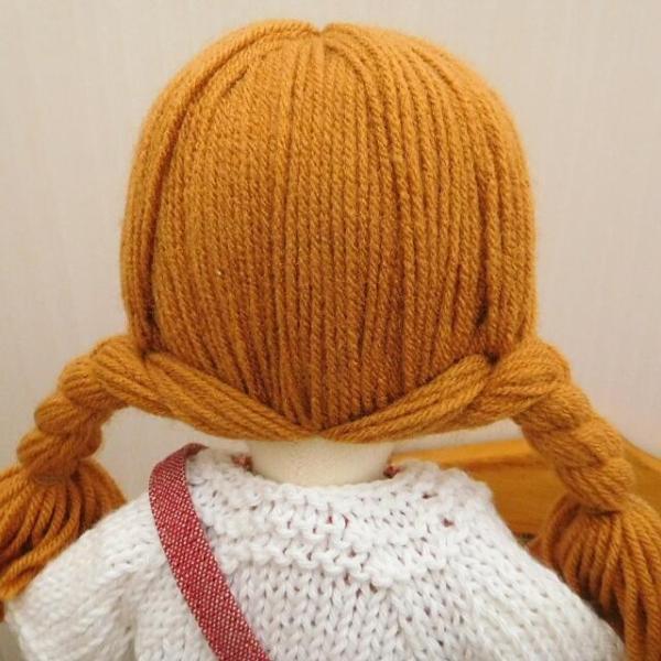 手作り 布製 着せかえ 人形 ギンガムワンピース- 半袖カーディガン 女の子 着せ替え セット 34cmサイズ|mixjam-store|12